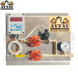 Централна разпределителна система за гас с термостат