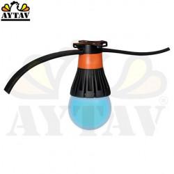 Лед лампа ILU-MAX 8 W (синя)