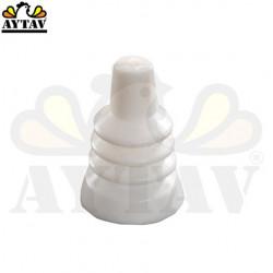 Единична вакумна пластмаса за яйца (Бяла)